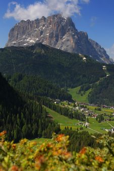 Mountain Valley, Dolomites Royalty Free Stock Photography