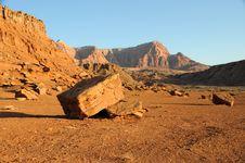 Free Boulder Below Vermilion Cliffs Stock Photos - 14771973