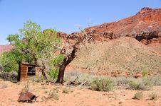 Historic Ranch Cabin Along Paria River Royalty Free Stock Images