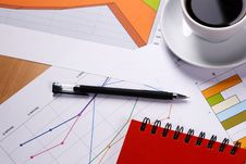 Free Work-table Covered With Documents Royalty Free Stock Photography - 14772127