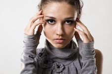 Beautiful Young Fashion Model Stock Photography