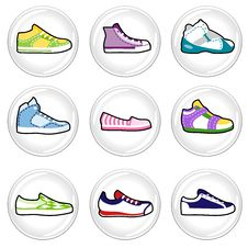 Shoes Icons Royalty Free Stock Photography
