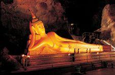 Reclining Buddha Image Royalty Free Stock Image