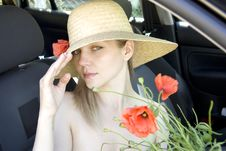 Free The Woman In The Car Royalty Free Stock Photo - 14772395