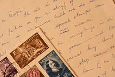Free Old Handwritten Letter Stock Photos - 14772433