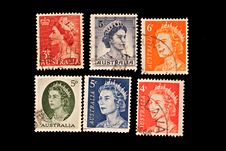 Oueen Elizabeth Stamps Royalty Free Stock Image
