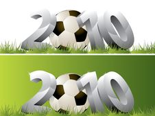 Free 2010 With A Football Royalty Free Stock Image - 14772896