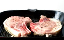 Free Cooking Pork Chops Stock Images - 14772994