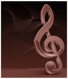 Free Brawn Treble Clef Royalty Free Stock Photos - 14772998