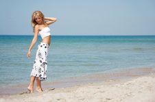 Free Beautiful Girl On Beach Royalty Free Stock Photo - 14773285