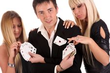 Free Magician Make Performance Cards Stock Image - 14774381