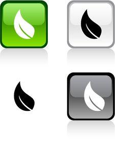 Ecology Button. Royalty Free Stock Photos