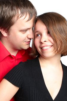 Free Closeup Portrait Of A Happy Young Couple Stock Image - 14774511