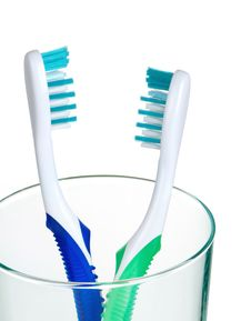 His And Her Toothbrushes Stock Photography