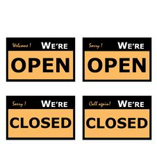 Free Open And Closed Signage Stock Image - 14775091