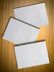 Free Crumpled Paper On Wood Wall Stock Image - 14775101