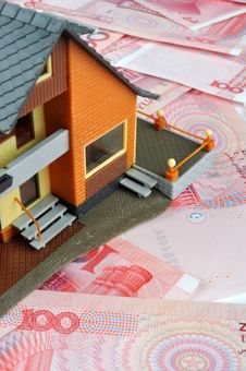 Money And House Model Stock Photography