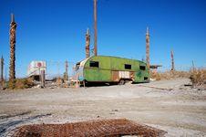 Free Trailer, Salton Sea Stock Image - 14776101