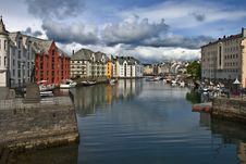 Alesund, Downtown Stock Images