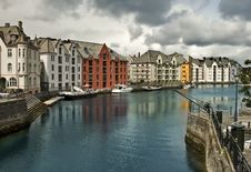 Free Alesund, Downtown Royalty Free Stock Photography - 14776427