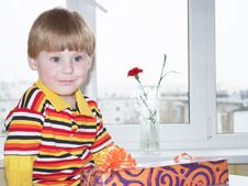 Free The Boy With A Gift Stock Image - 14776571