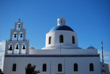 Free Church In Santorini Stock Image - 14777651