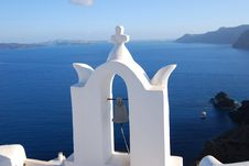 Free Church Bell In Santorini Stock Images - 14777704