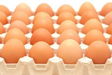 Rows Of Eggs In A Protective Container Royalty Free Stock Photos