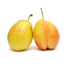 Free Ripe Pears Isolated On White Royalty Free Stock Photo - 14777785