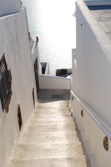 Free Stairs To Home, Santorini, Greece Stock Photography - 14777802