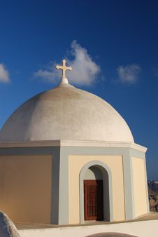 Free Church In Santorini Stock Images - 14777834