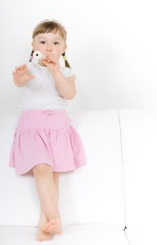 Free Little Girl With Instrument Royalty Free Stock Photos - 14778198