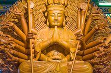 Free Wooden Buddha Stock Image - 14778781