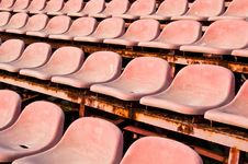 Free Old Red Seats Royalty Free Stock Photos - 14778968