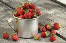 Free Garden Strawberries In Mug Royalty Free Stock Images - 14778979