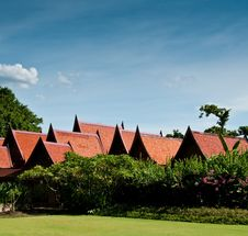 Thai Style House Royalty Free Stock Photography