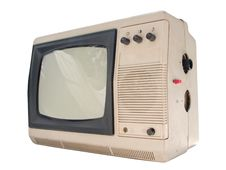 Old Small TV Set Royalty Free Stock Image