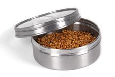 Free Coriander Seeds In Metal Box Royalty Free Stock Images - 14779359