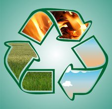 Free Recycle Icon Stock Photo - 14779980