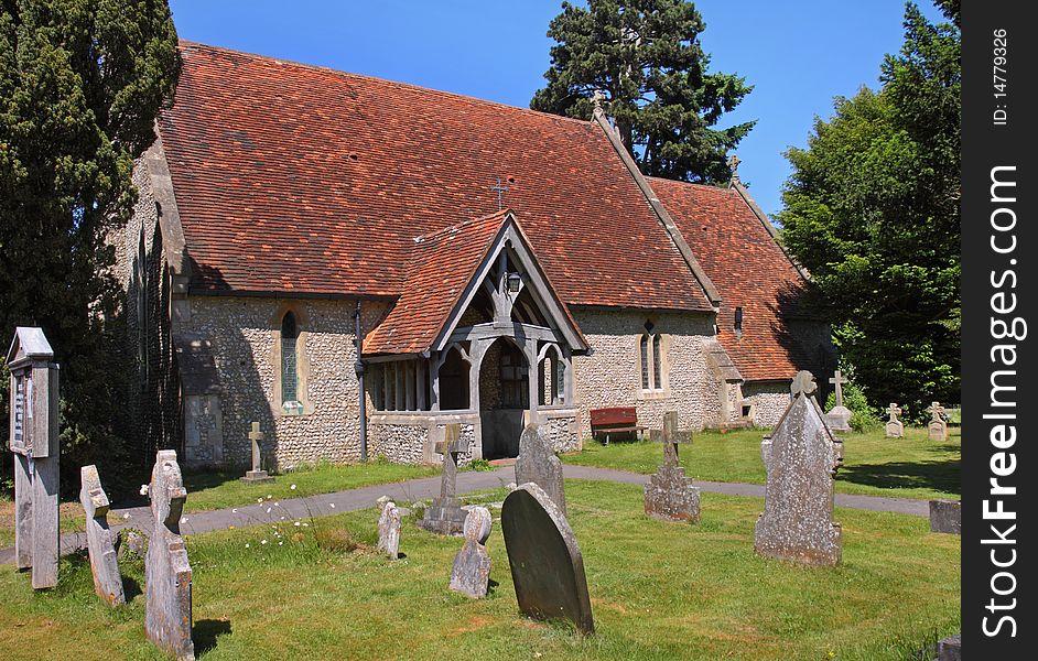 An English Village Church and Graveyard