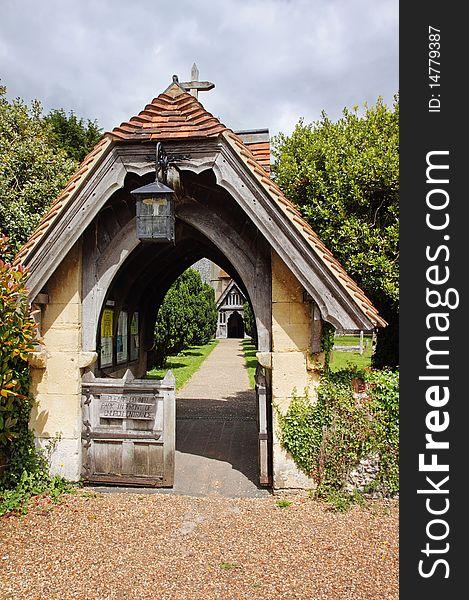 An English Village Church Lychgate