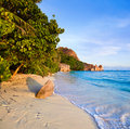 Free Tropical Beach Source D Argent At Seychelles Royalty Free Stock Photography - 14780387