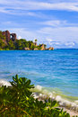 Free Tropical Beach Source D Argent At Seychelles Royalty Free Stock Image - 14780396
