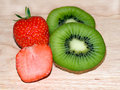 Free Kiwi Slices And Strawberry Slices Stock Photos - 14781173