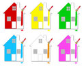 Free Multicoloured Houses Royalty Free Stock Photography - 14782327