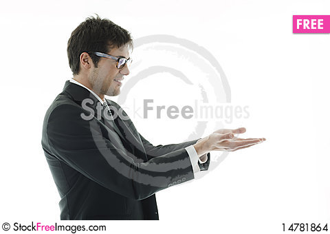 Free Businessman Presenting Product Stock Images - 14781864