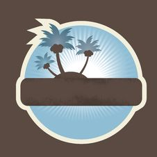 Free Tropical Beach Banner. Vector Illustration Stock Images - 14780294
