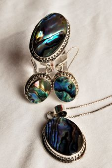 Earrings And Pendant Stock Image