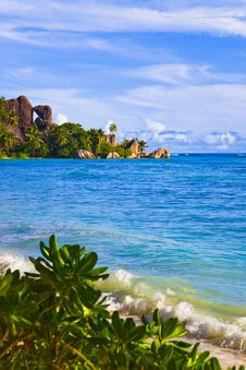 Tropical Beach Source D Argent At Seychelles Royalty Free Stock Image