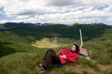 Free Relaxing On The Mountain Peek Royalty Free Stock Photo - 14780545